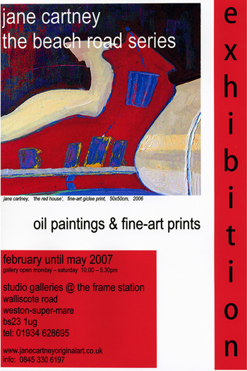 Exhibition of Jane Cartney's paintings at The Frame Station